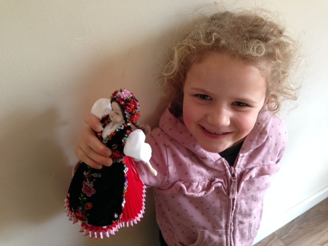 Aimee with her dolly!