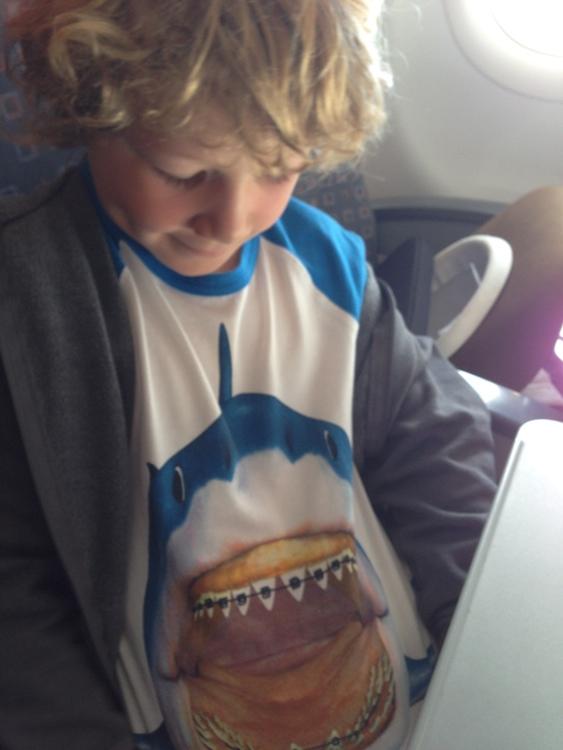 My cool shark t-shirt